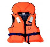 Life jacket with split front